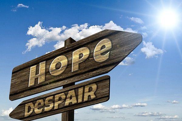 希望と絶望の看板