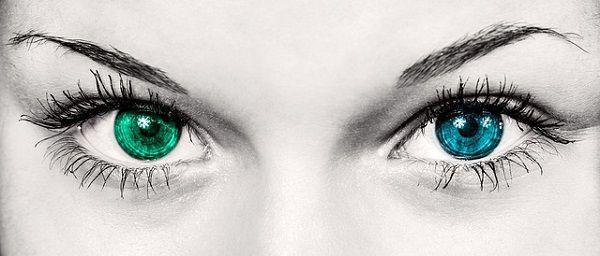 緑と青の瞳