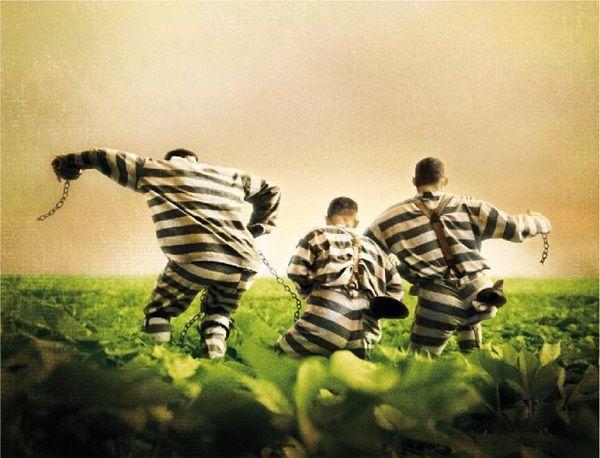 脱走する囚人たち