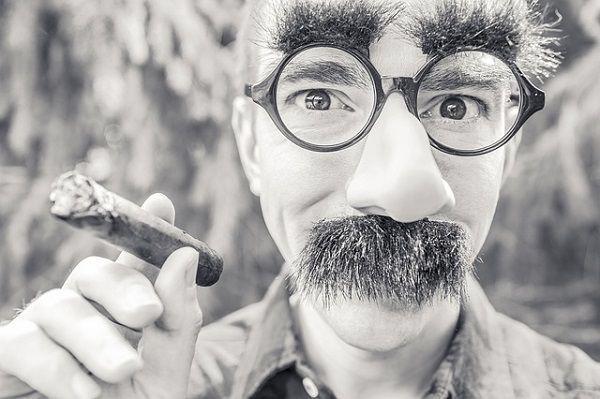 ヒゲメガネの人