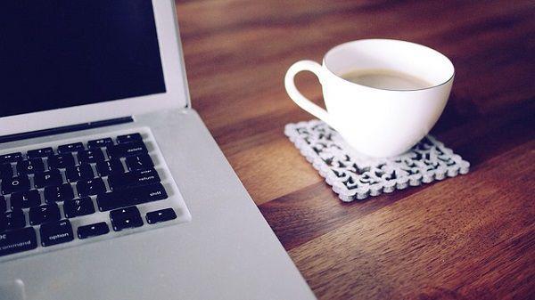 PCとコーヒー