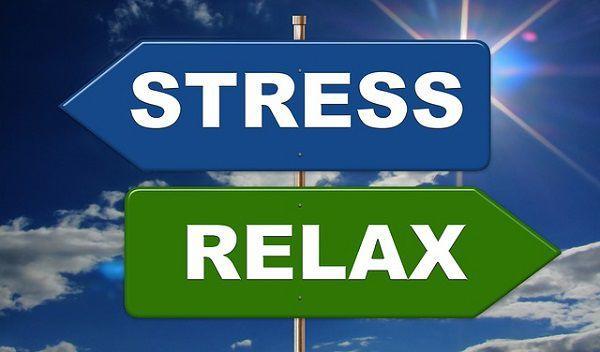 ストレスとリラックスの看板