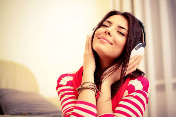 音楽を聞いてリラックス