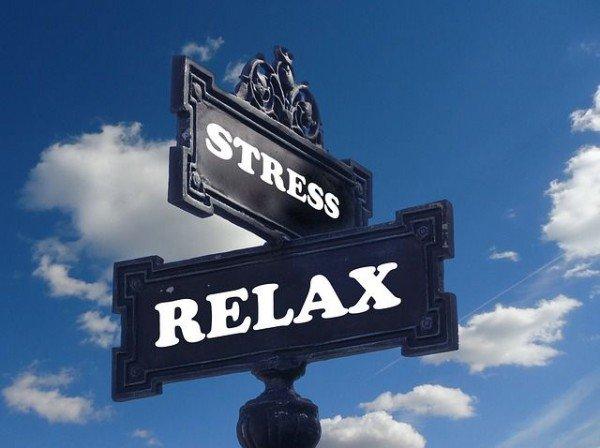 ストレス解消の標識