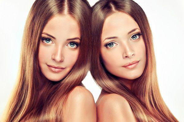髪のキレイな女性2人