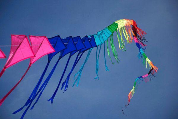風を受けて高くあげる凧