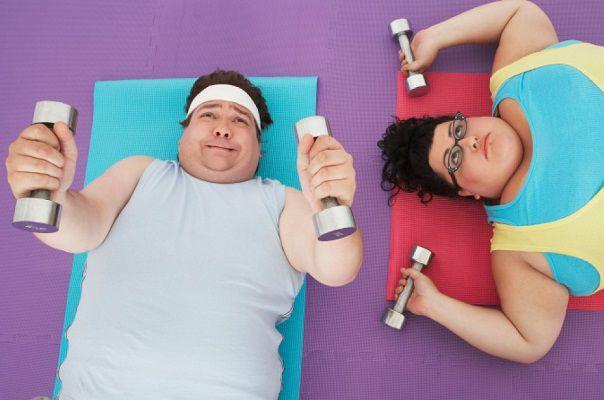 運動不足が原因の肥満