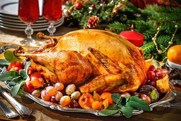 クリスマスのチキン料理