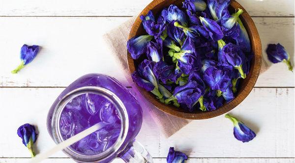 青の花茶2